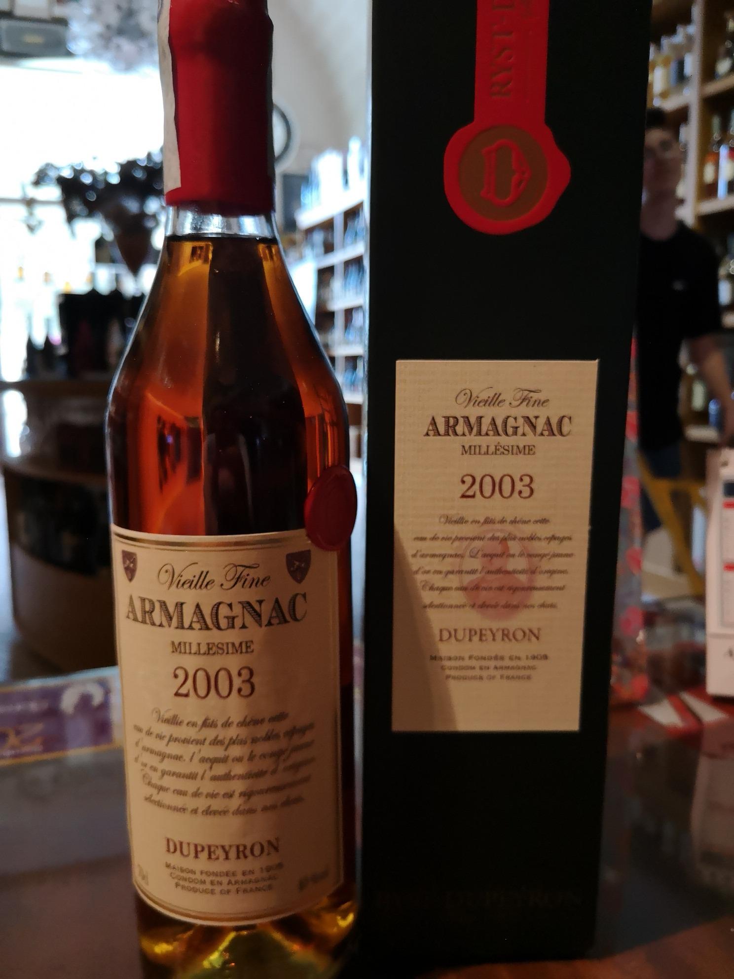 Armagnac Dupeyron 2003