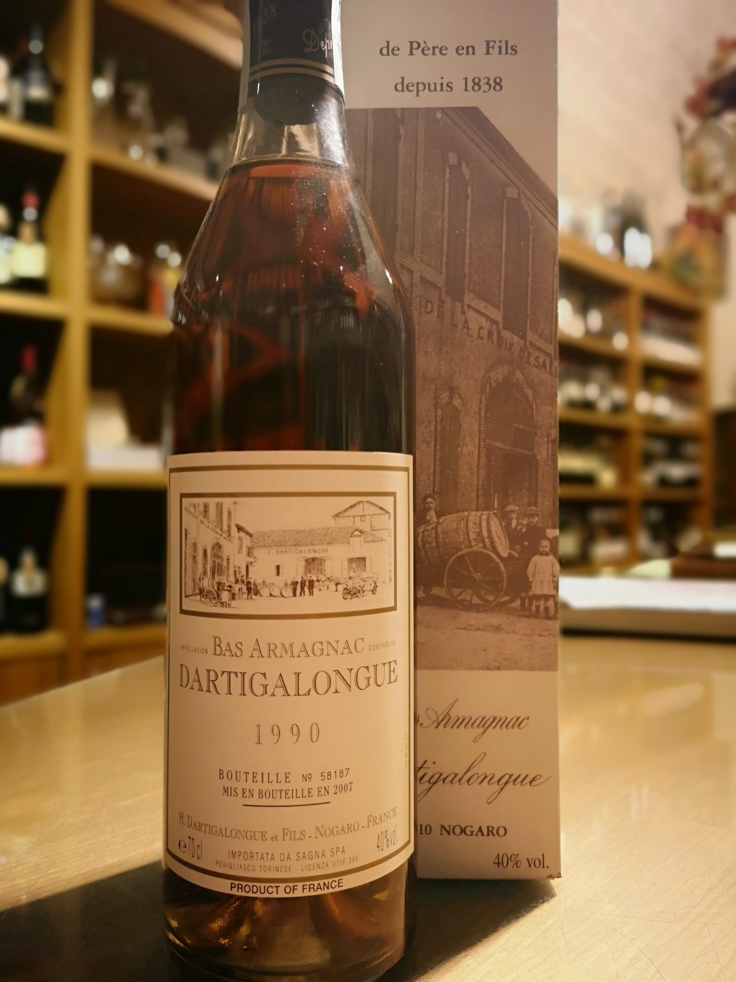Bas Armagnac Dartigalongue 1990