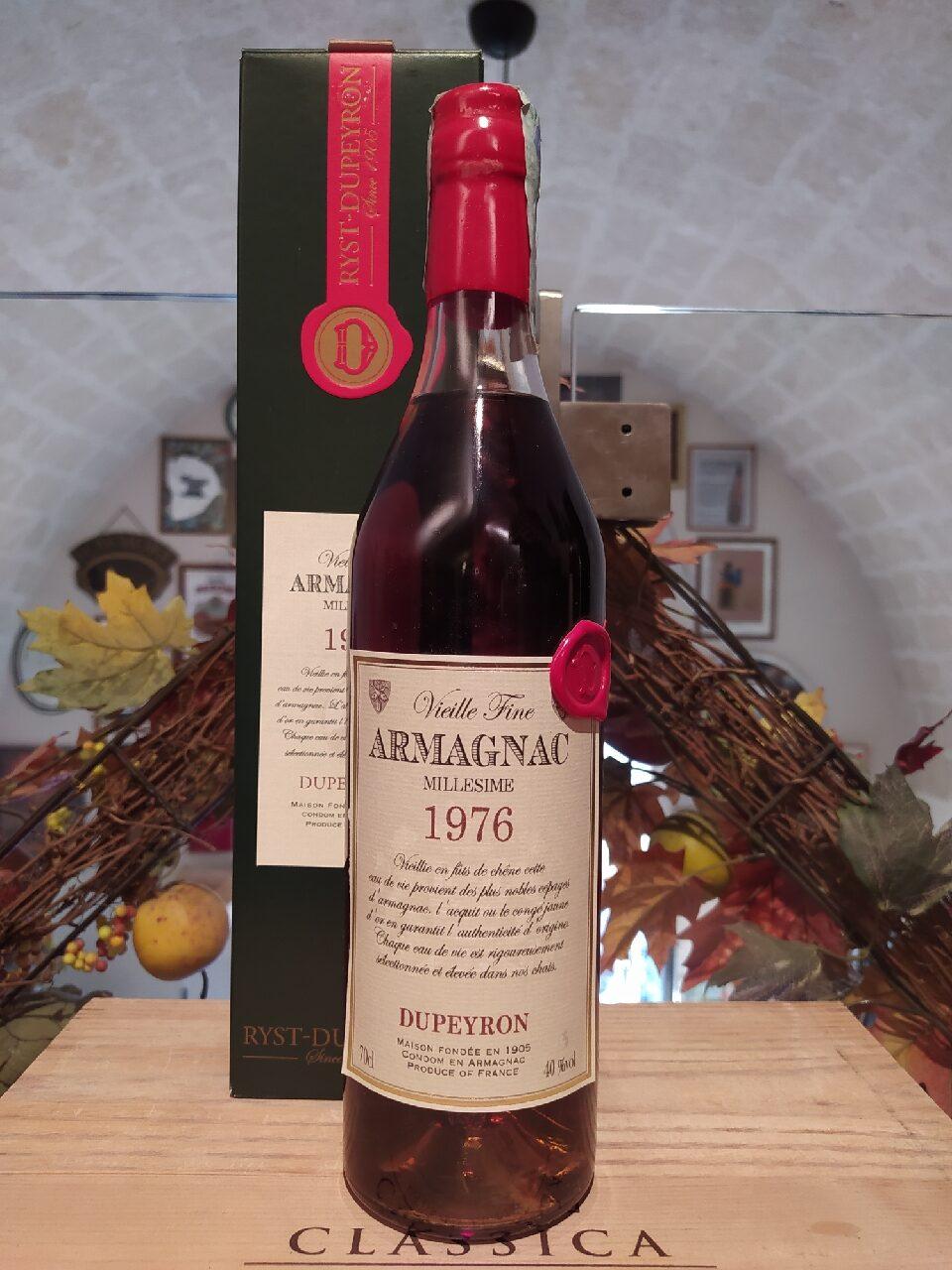 Dupeyron Armagnac Millesime 1976