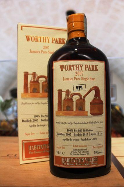 Worthy Park Jamaica Pure Single Rum 2007 WPL Habitation Velier