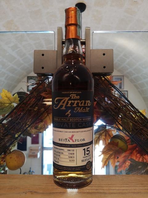 Arran Single Malt Scotch Whisky Bourbon Single Cask 15 YO – Beija-Flor