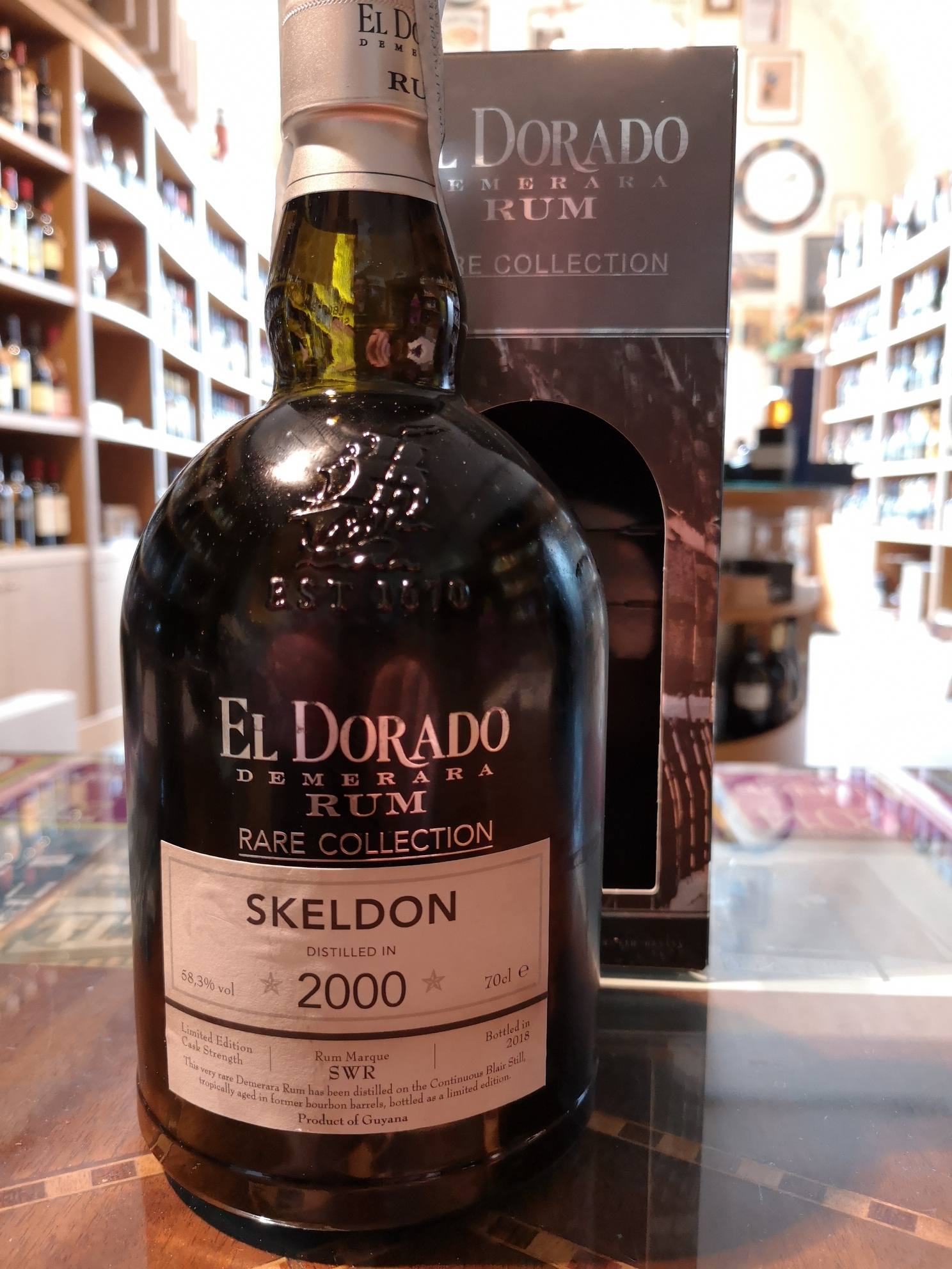 Rum 'Rare Collection Skeldon' El Dorado Demerara 2000