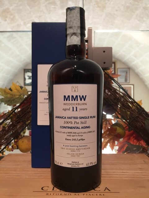 Monymusk Jamaica Vatted Single Rum 11 YO MMW Wedderburn Continental Aging