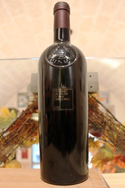 Patrimo Feudi Di San Gregorio Campania Rosso IGT 2002