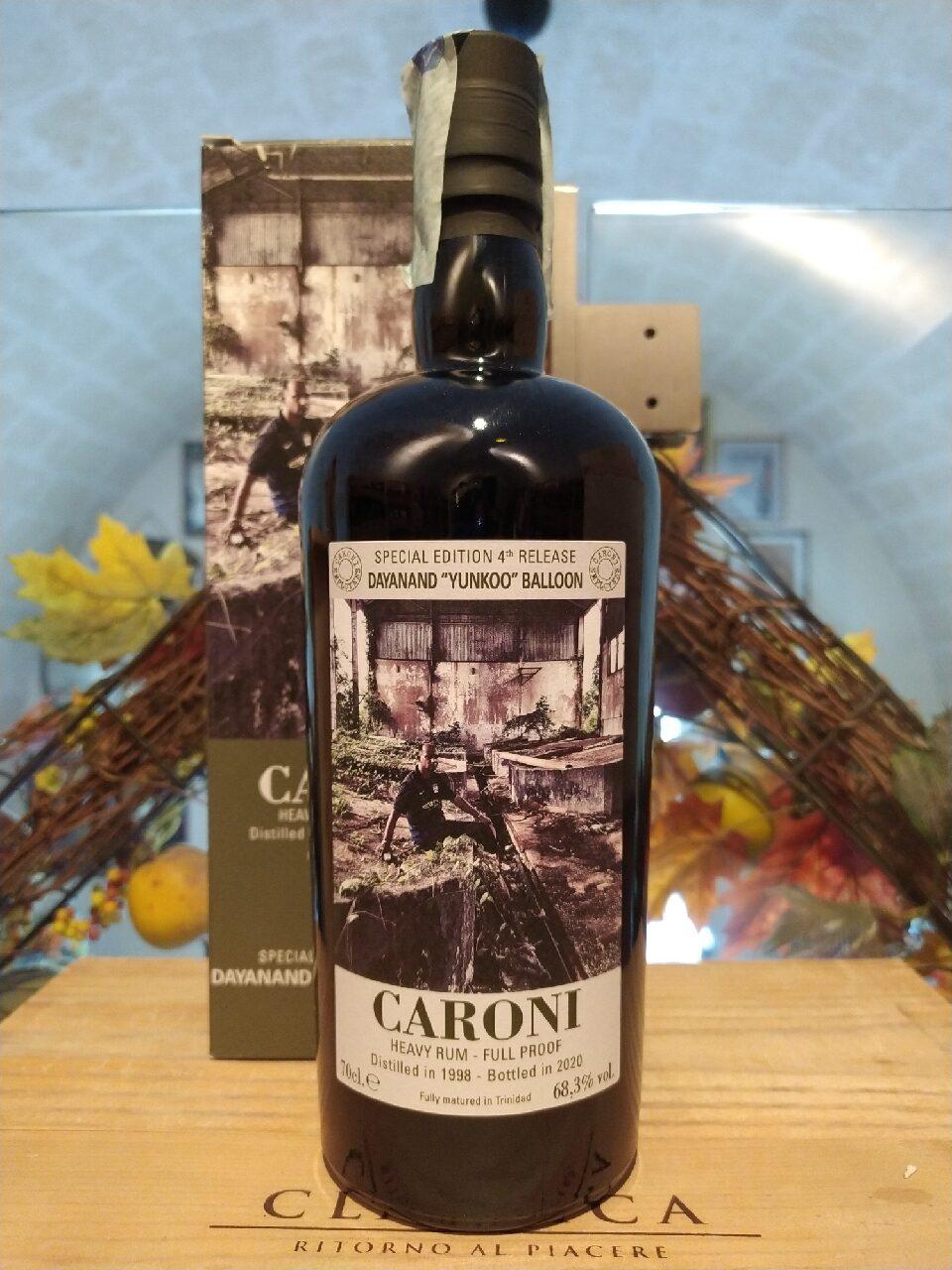 "Caroni Heavy Rum Dayanand ""Yunkoo"" Balloon Employees 4th Release 1998 22 YO"