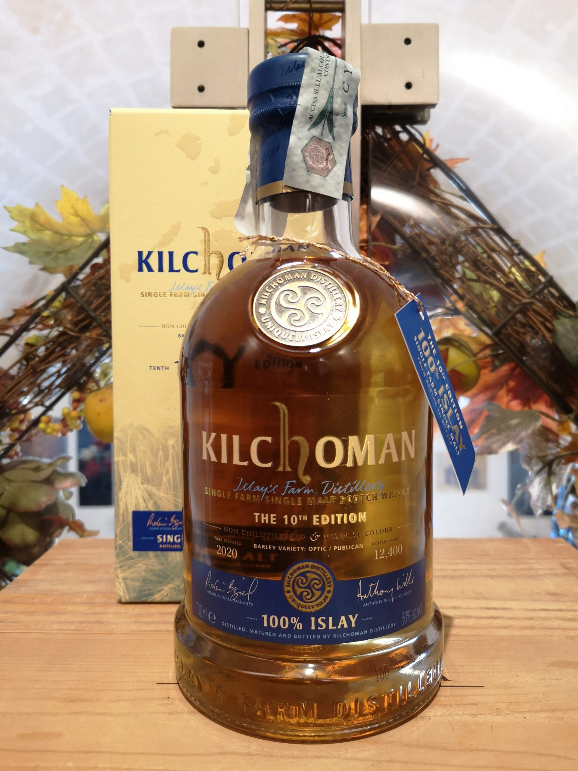 Kilchoman Islay Single Malt Scotch Whisky 100% Islay 2020 10th Edition
